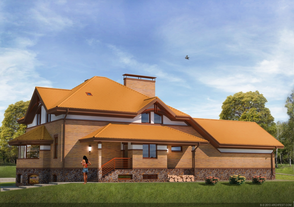 Residential house in. Protsev, Boryspolskoho the Kiev region of area