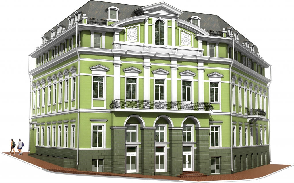 Reconstruction of non-residential buildings with an add 3rd and attic floors