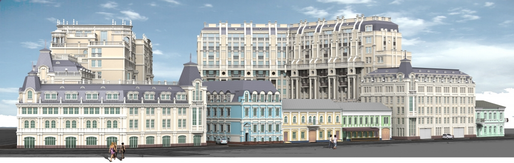 Reconstruction of non-residential building into a hotel complex
